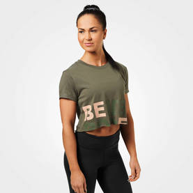 Better Bodies - Astoria Cropped Tee, Washed Green - Better Bodies T-skjortor - 06301 - 1