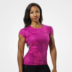 Better Bodies - Performance Cut Tee, Pink Print - Better Bodies T-skjortor - 06032 - 1