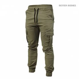 Better Bodies - BB Alpha Street Pant, Washed Green - Better Bodies Byxor - 02543 - 1