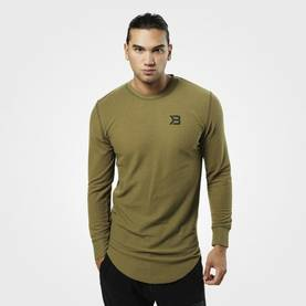 Better Bodies - Harlem Thermal l/s, Military Olive - Better Bodies Långärmade - 06395 - 1