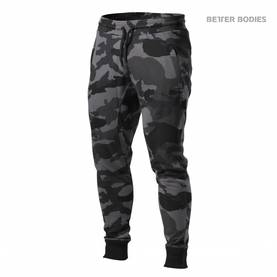 Better Bodies - Tapered Joggers, Dark Camo - Better Bodies Byxor - 02335 - 1