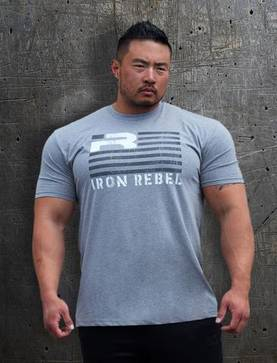 "Iron Rebel"" Rebel Flag"" Shirt - Iron Rebel T-skjortor - 06008 - 1"