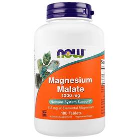 Magnesium Malate 1000mg, 180tab.NOW Foods - Magnesium - 02598 - 1